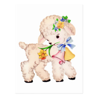 Easter lamb gifts on zazzle easter lamb vintage postcard negle Images