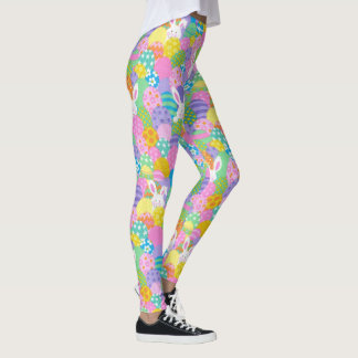 EASTER Leggings Bunny Egg Yoga Pants Women's Girls