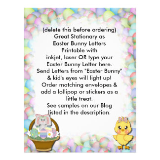 Easter Letterhead From Easter Bunny Letter Biz