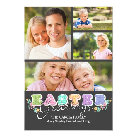 Easter Letters Four Photo Card