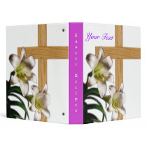 Easter Lilies and Cross Binder