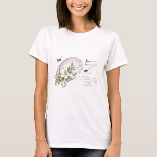 Easter Lilies, Bees & Easter Egg T-Shirt