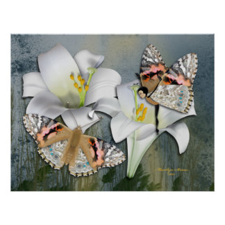 Easter Lillies, Butterfly & Butterfairy Posters