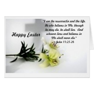Easter Lillies Greeting Card