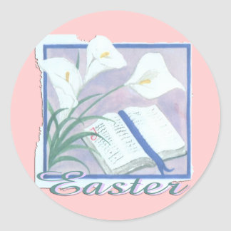 Easter Lilly Classic Round Sticker