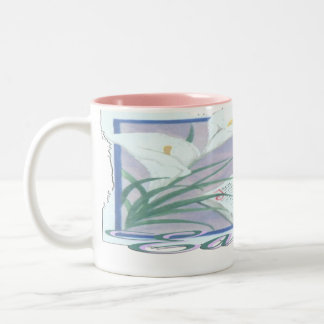 Easter Lilly Two-Tone Coffee Mug