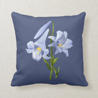 Easter Lily Bouquet Throw Pillow