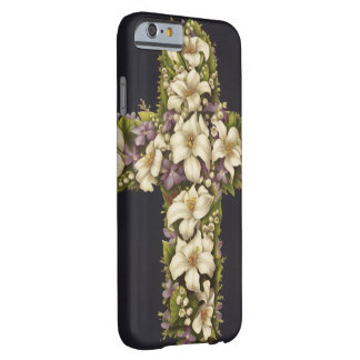 Easter Lily Cross Barely There iPhone 6 Case