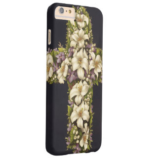 Easter Lily Cross Barely There iPhone 6 Plus Case