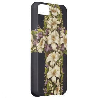 Easter Lily Cross Cover For iPhone 5C