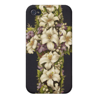 Easter Lily Cross iPhone 4 Covers