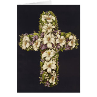 Easter Lily Cross Note Card