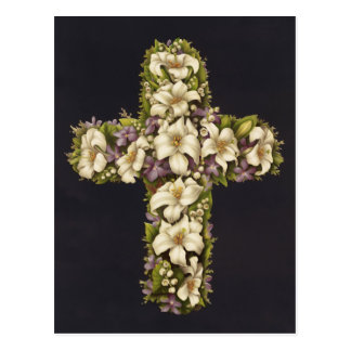 Easter Lily Cross Postcard