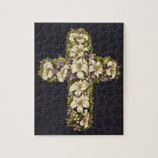 Easter Lily Cross Jigsaw Puzzle