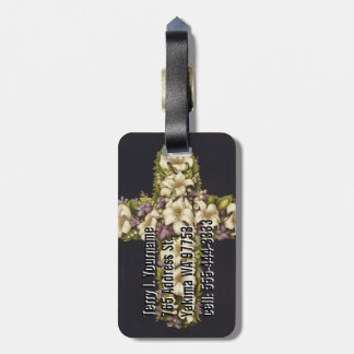 Easter Lily Cross Travel Bag Tag