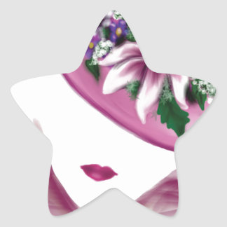 easter lily hat lady.jpg star sticker