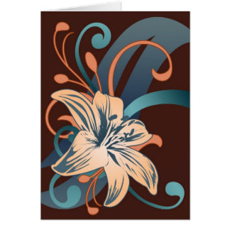 Easter Lily In Blue Card