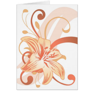 Easter Lily In Orange Card