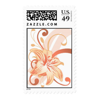 Easter Lily In Orange Postage