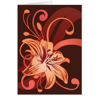 Easter Lily In Red Card