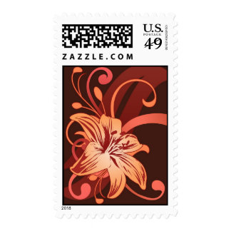 Easter Lily In Red Postage Stamps