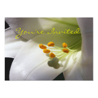 Easter Lily Invitation