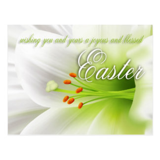 Easter Lily Joyous Easter Postcard