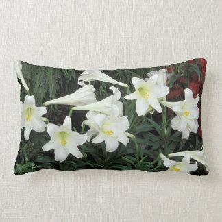 Easter Lily (Lilium regale) Lumbar Pillow