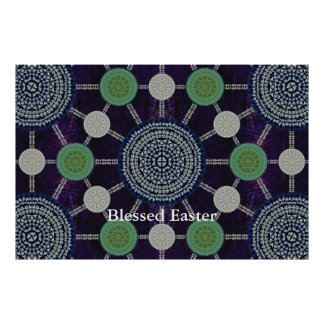 Easter Lily Mandala Array Poster