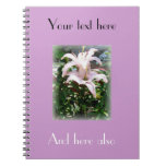 easter lily notebook
