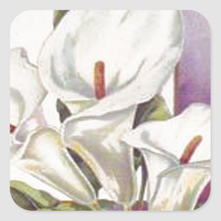 Easter Lily Square Sticker