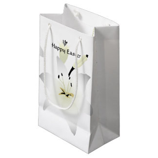 Easter lily gift bags zazzle easter lily white lilies sml small gift bag negle Choice Image