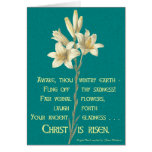 Easter Lily with Blackburn quote Greeting Cards