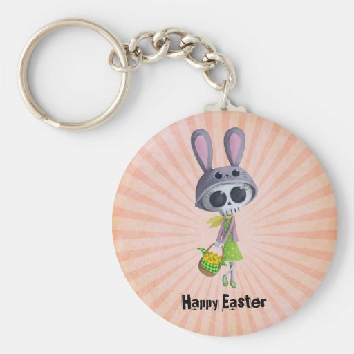 Easter Little Miss Death Key Chains