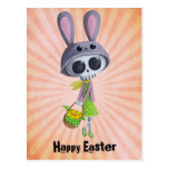 Easter Little Miss Death Post Cards