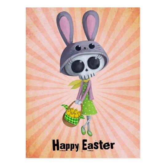 Easter Little Miss Death Postcard