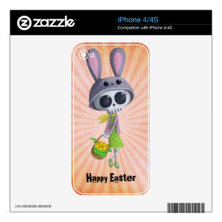 Easter Little Miss Death iPhone 4S Skin