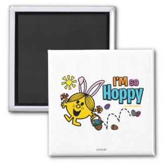 Easter Little Miss Sunshine 2 Inch Square Magnet