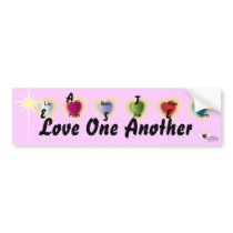 "Easter ""Love One Another""-Customize Bumper Sticker"