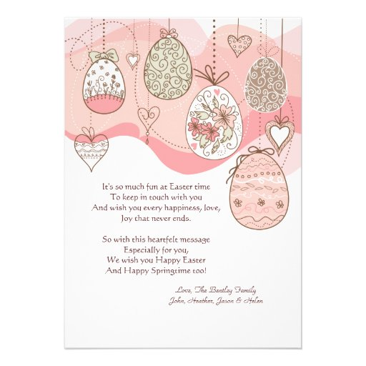Easter Love Too Personalized Invitation