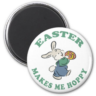 Easter Makes Me Hoppy 2 Inch Round Magnet