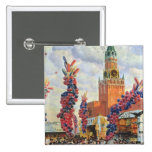 Easter Market at the Moscow Kremlin, 1917 Button