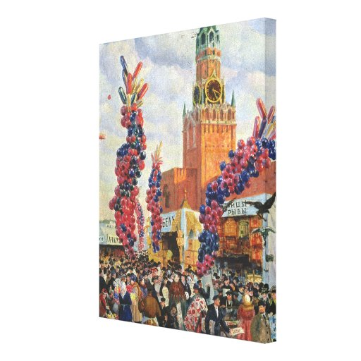Easter Market at the Moscow Kremlin, 1917 Stretched Canvas Prints