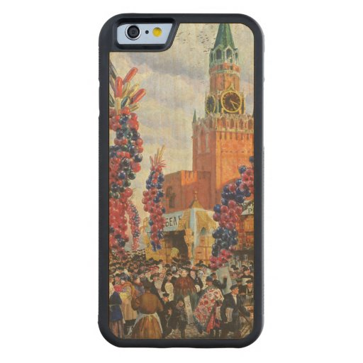 Easter Market at the Moscow Kremlin, 1917 Carved® Maple iPhone 6 Bumper