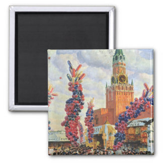 Easter Market at the Moscow Kremlin, 1917 Magnets