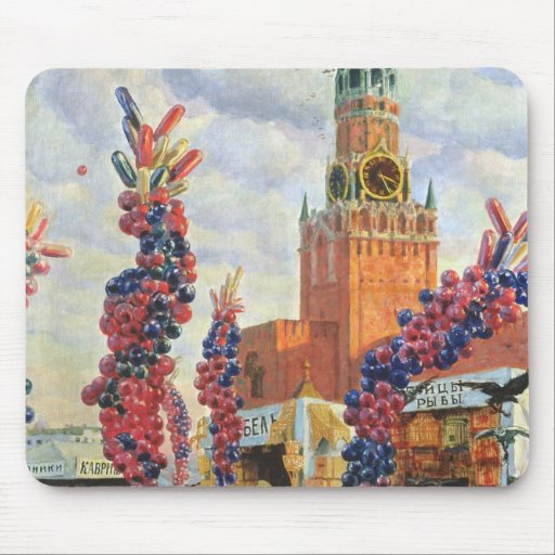 Easter Market at the Moscow Kremlin, 1917 Mouse Pads