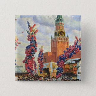 Easter Market at the Moscow Kremlin, 1917 Pinback Button