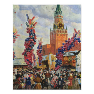 Easter Market at the Moscow Kremlin, 1917 Poster