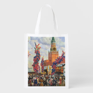 Easter Market at the Moscow Kremlin, 1917 Reusable Grocery Bag