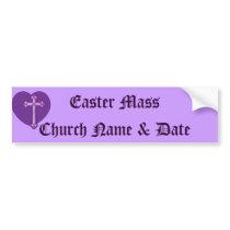Easter Mass, Church Name & Address-Customize Bumper Sticker